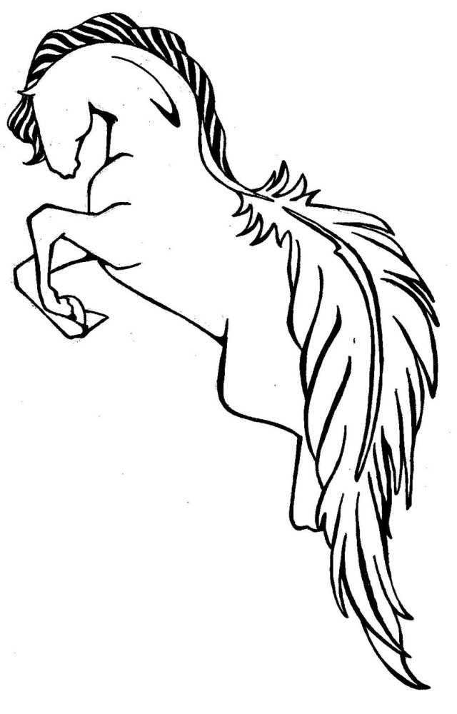 Coolest Jumping Horse Tattoo Sample For Girls Tattoo