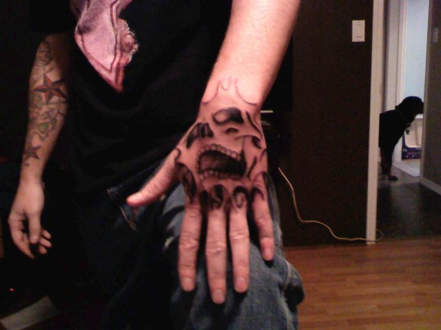 Coolest Self Hand Tattoo Design For Boys