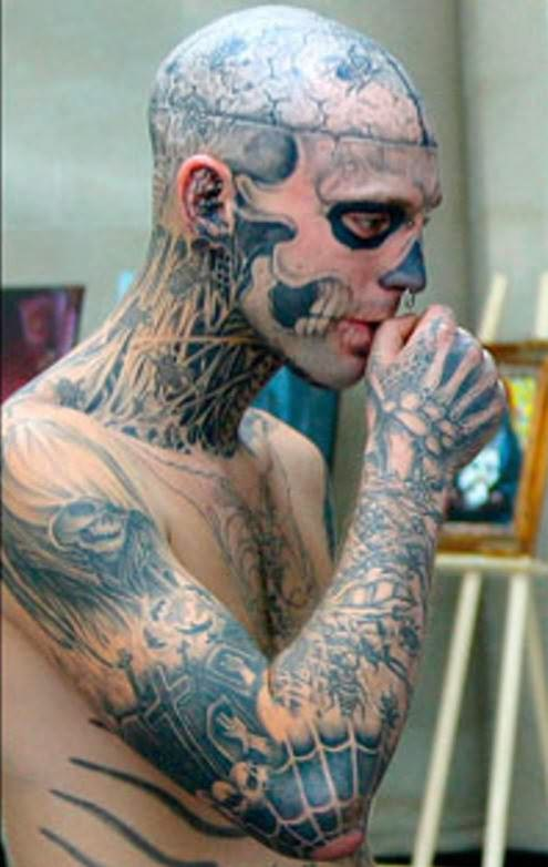 Crazy Extreme Body Tattoo For Boys