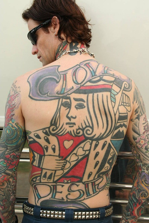 Crazy Funny Full Back Tattoo For Boys