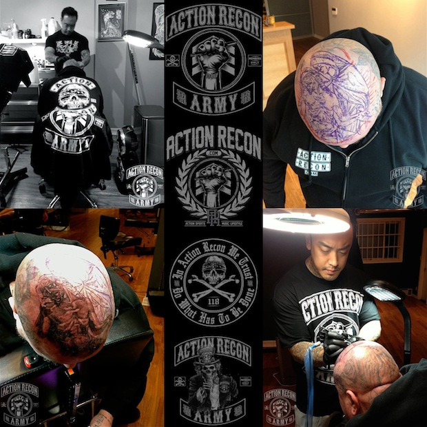 Crazy Head Tattoo Photos For Boys