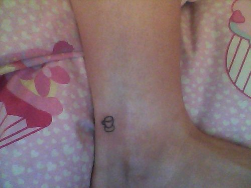 Creative Tiny Tea Cup Homemade Tattoo On Ankle For Girls