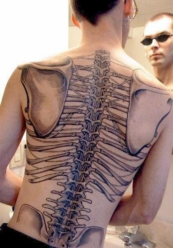 Custom Funny Tattoo On Back Body For Boys