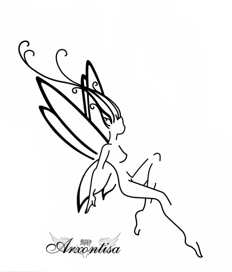 Cute Fairy Tattoo Design For Boys