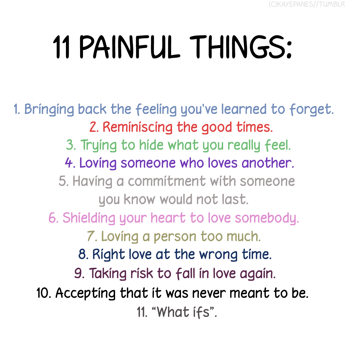 Cute Life Quotes Delectable Cute Life Quotes 11 Painful Things  Picsmine