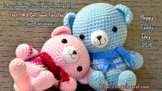 Cute Love Message On Teddy Day Wishes Image