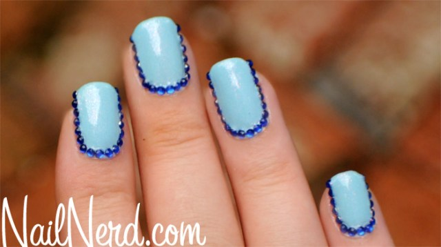 Cutest Blue Nail With Dark Finishing