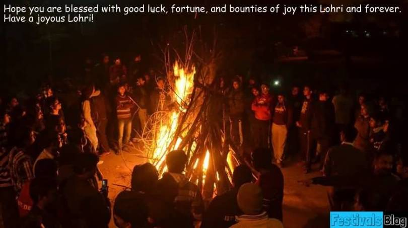 Dear Friends Happy Lohri Wishes Message Image
