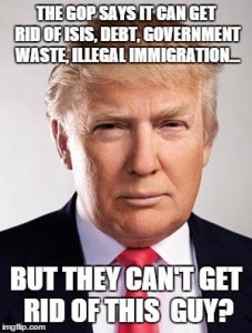Donald Trump Funny Memes The Gop Says It Can Get Rid Of Isis Debt Government Waste Illegal Immigration
