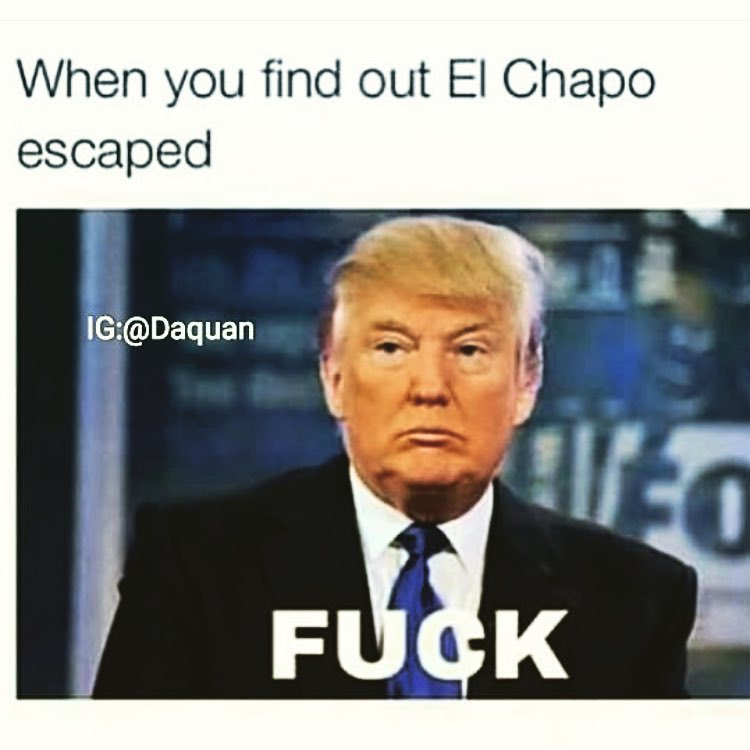 Donald Trump Memes When You Find Out Ei Chapo Escaped