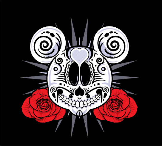Extremely Dia De Los Muertos Mickey Mouse Tattoo Design For Girls