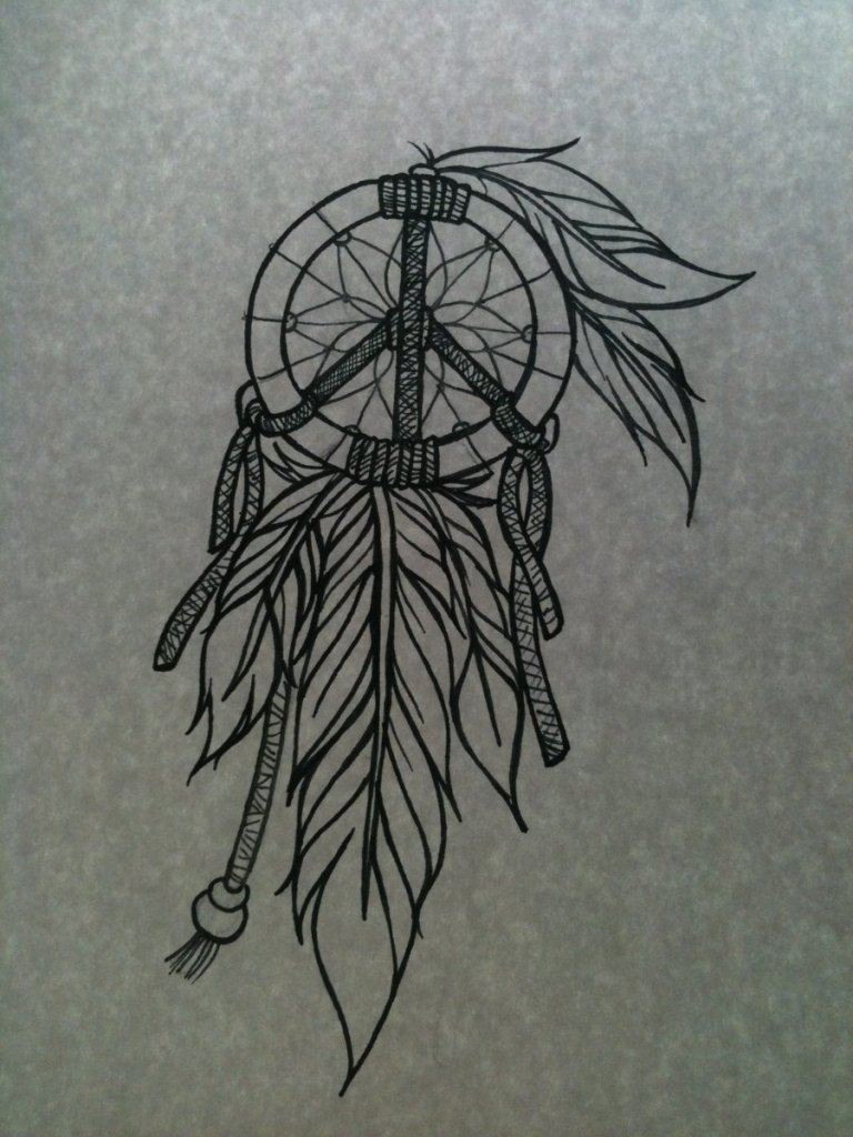 Extremely Dream Catcher Tattoo Design For Girls