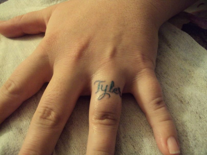 Extremely Ring Finger Tattoo For Girls