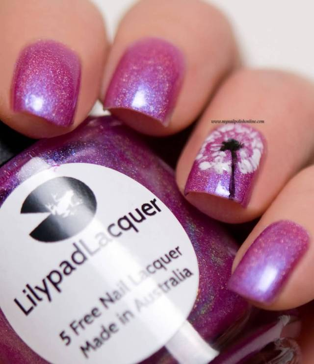 Fantastic Pink Paint With Sparkle Accent Nail Design