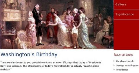 Federal Holiday Birthday Of Mr. President Sir Washington Image