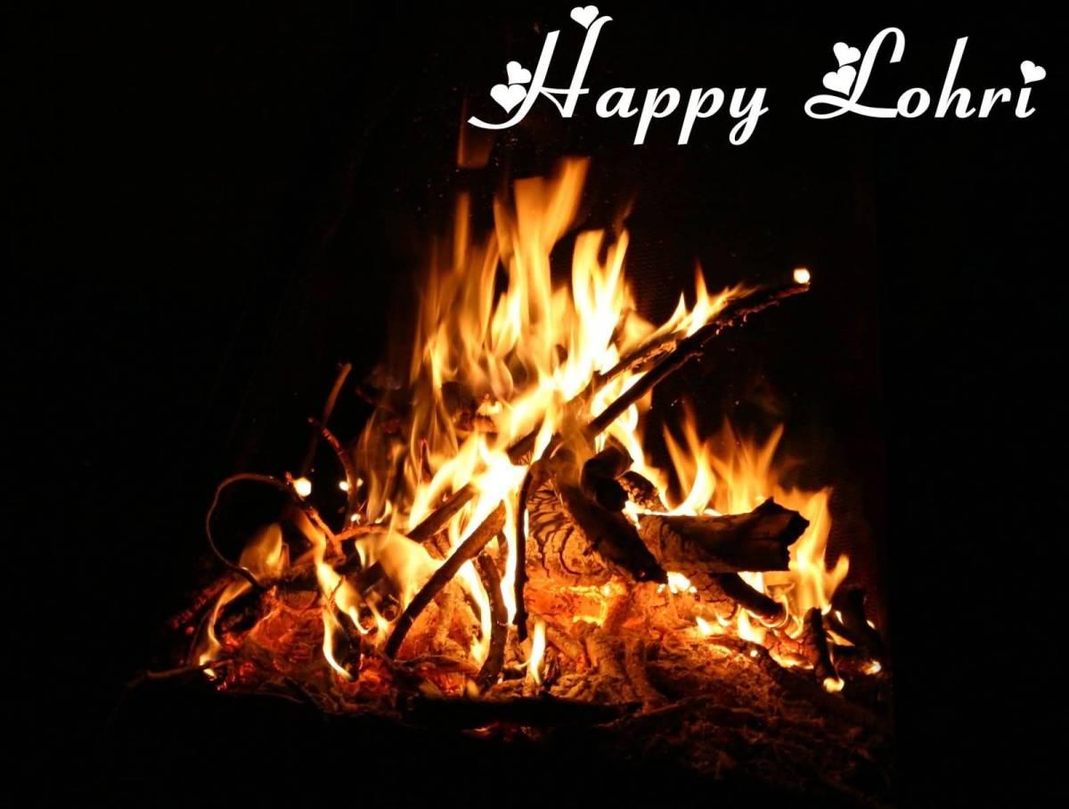 Fire Celebration Happy Lohri Wishes Picture