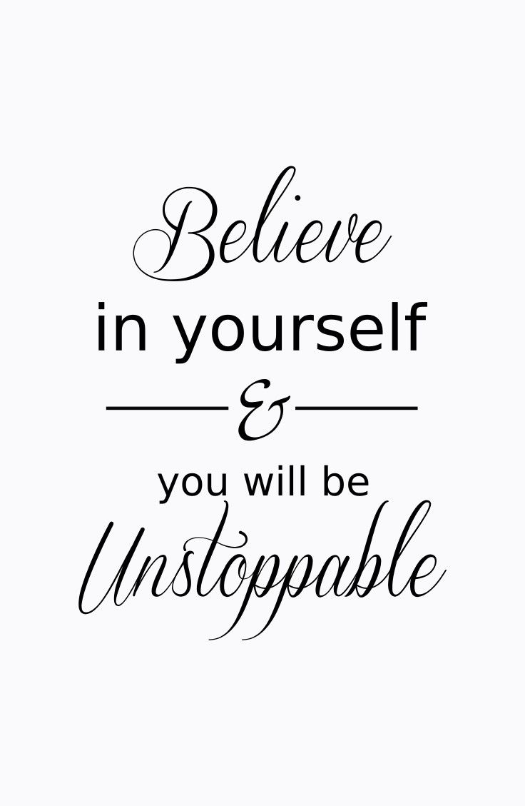 Fitness Quotes believe in yourself you will be unstoppable