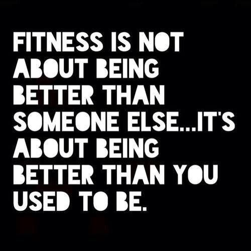 Fitness Quotes fitness is not about being better than someone else it's