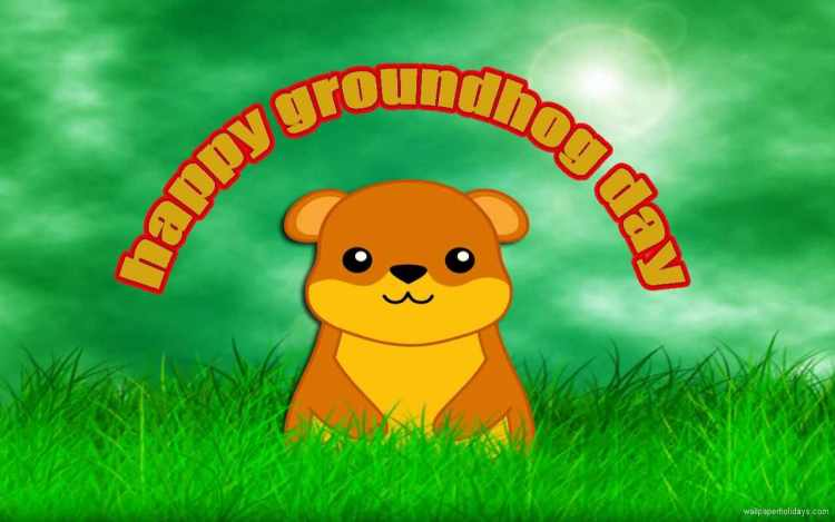 For My Friends Happy Groundhog Day Wishes