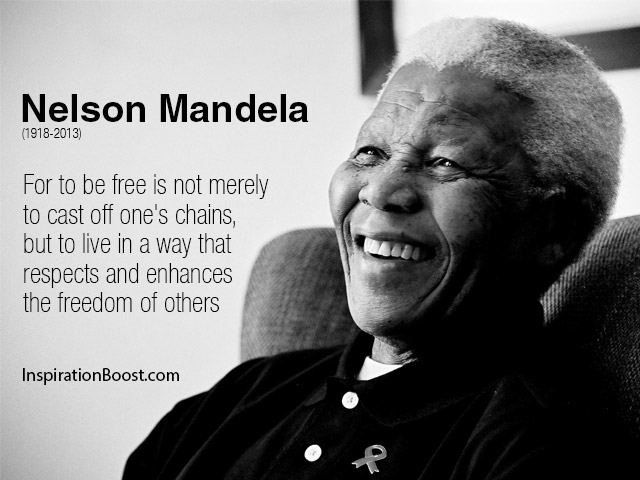 Freedom Quotes for to be free is not merely to cast off one's chains