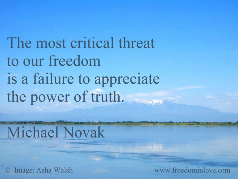Freedom Quotes the most critical threat to our freedom is a failure to appreciate the power of truth