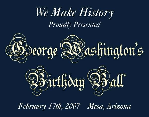 George Washington's Birthday Greetings Message Image