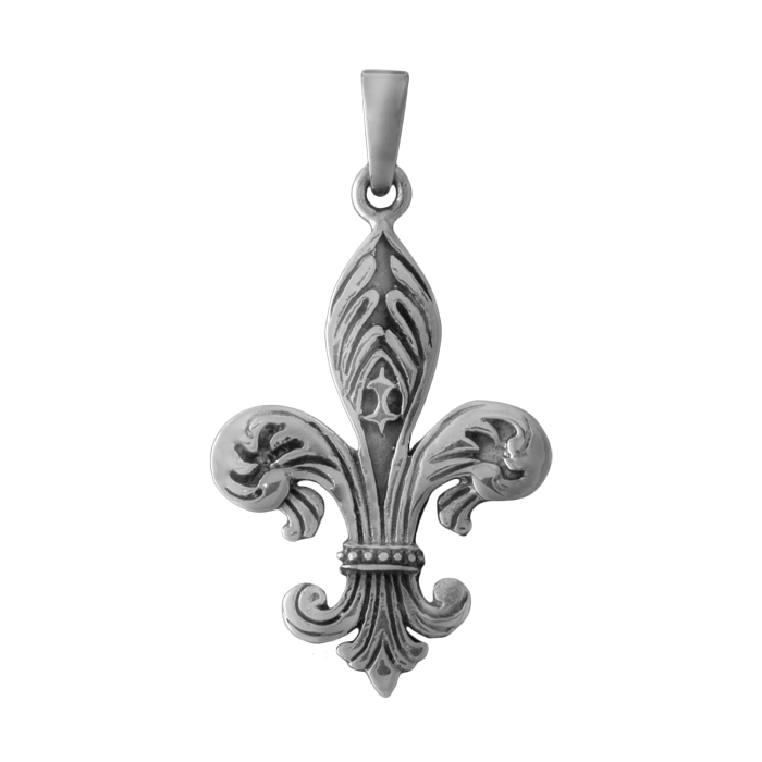 Great Ornate Fleur De Lis Tattoo Design For Boys & Girls