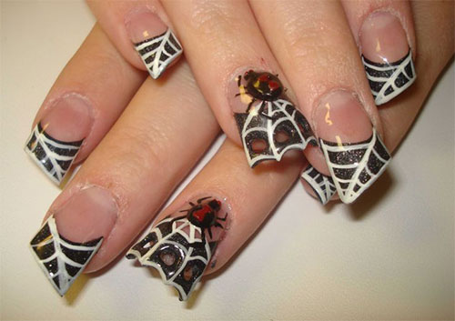 Great Spider Design Nail Art 3D Nail Art