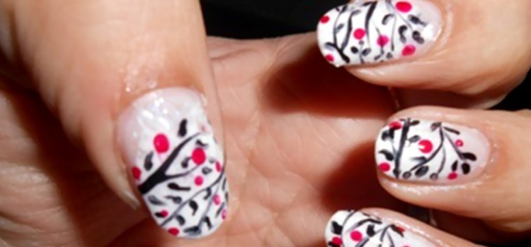 Greatest Black Tree With Colorful Parts Black And White Nail Art