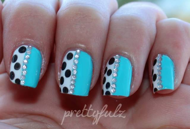 Greatest Blue Nails With Polka Dot