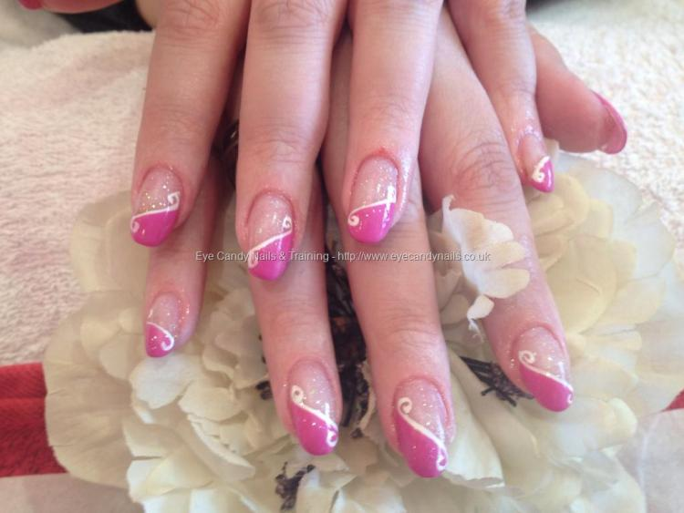 Greatest Pink And White Pink Acrylic Nail Design