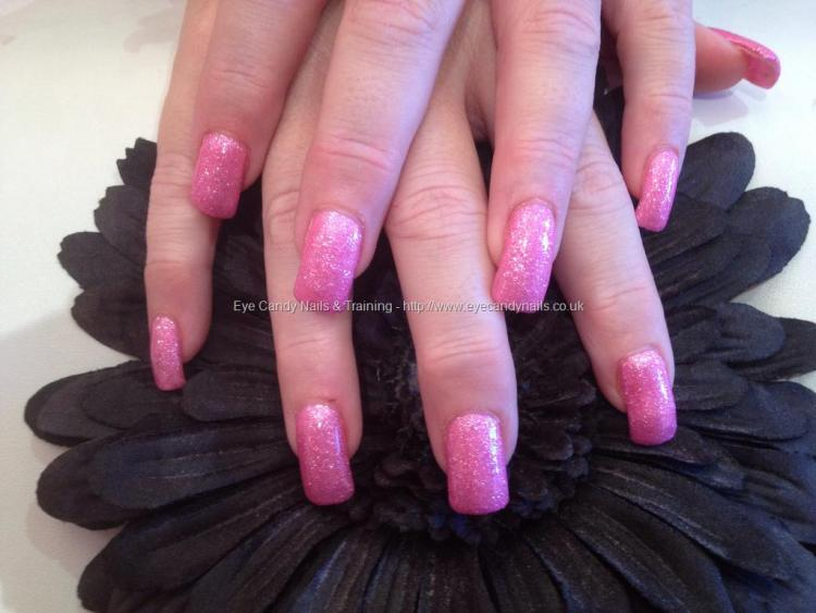 Greatest Sparkling Design Pink Acrylic Nail Design