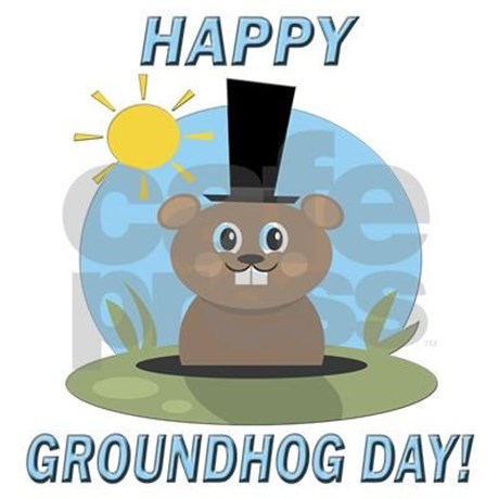 Greetings Card On Happy Groundhog Day Wishes