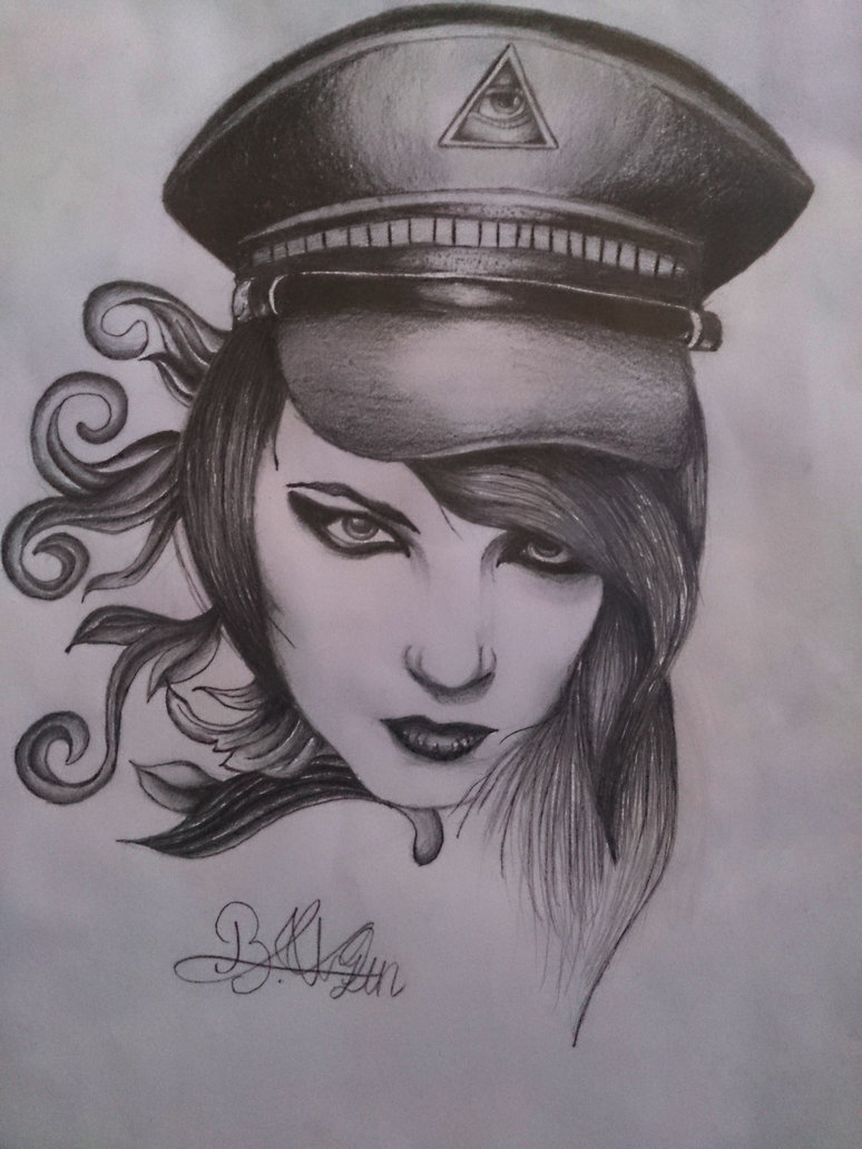 Groovy Girl Tattoo Sketch For Tattoo Fans