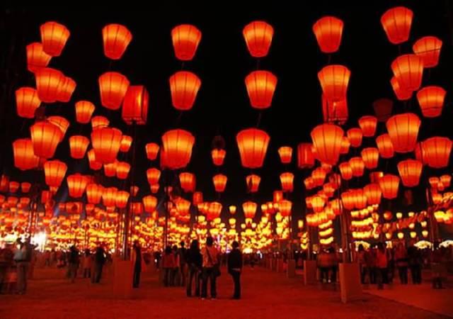 Hanging Lanterns Chinese New Year Celebration Wishes Image