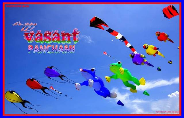 Happy Basant Panchami Cute Kites Images