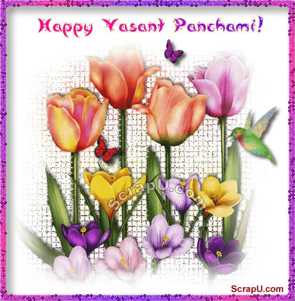 Happy Basant Panchami Greetings Card Images