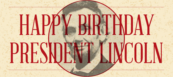 Happy Birthday President Lincoln Greetings Image