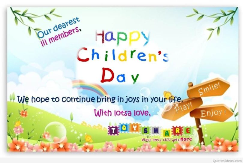 Happy Children's Day Greetings Quotes Image