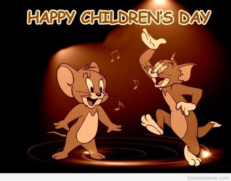 Happy Children's Day Wishes Cartoon Image