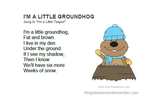 Happy Groundhog Day Wishes Poem Image