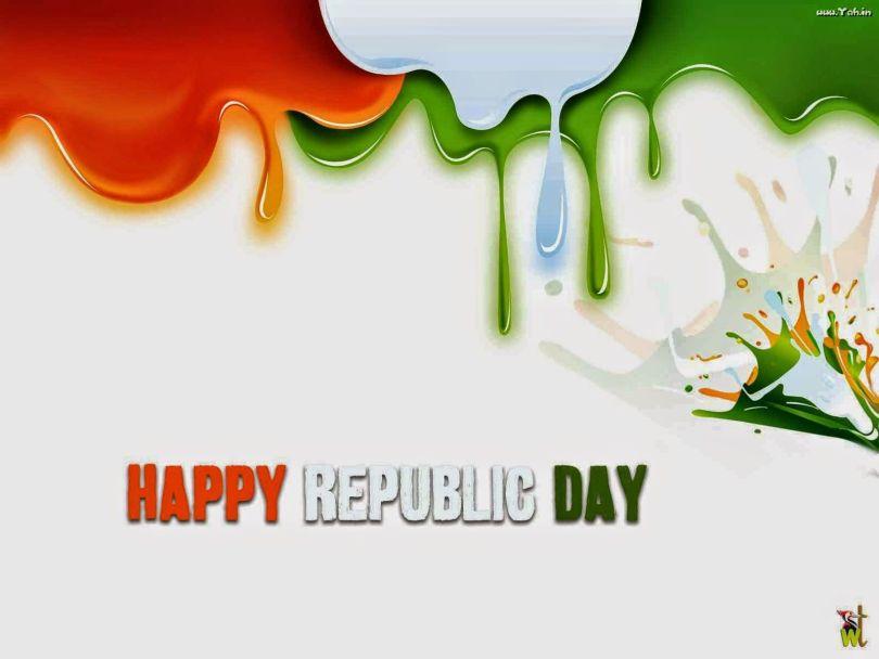 Happy Republic Day Message Wallpaper