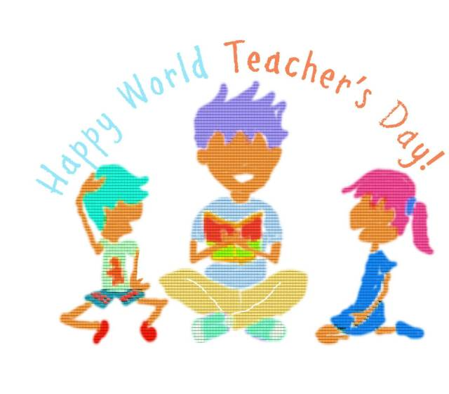 Happy Teacher's Day Greetings Art Image