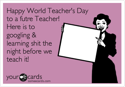 Happy World Teacher's Day Greetings Image