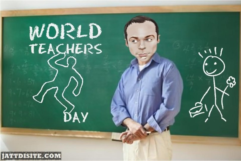 Happy World Teacher's Day Sir Funny Image