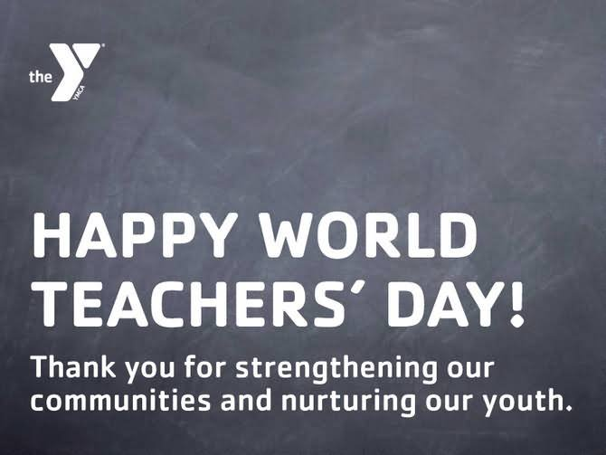 Happy World Teacher's Day Thank You Wishes Message Image