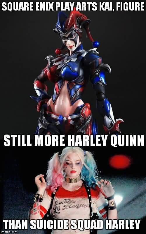 Harley Quinn Memes Square Enix Play Arts Kai, Figure Still More
