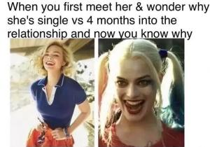 Harley Quinn Meme When You First Meet Her & Wonder Why She's Single