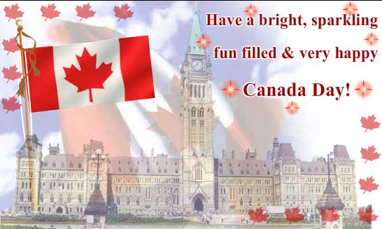 Have A Bright Happy Canada Day Greetings Message Image