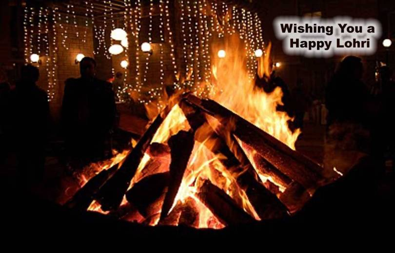 Have A Great Day Happy Lohri Wishes Image
